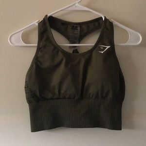 Gymshark seamless bra. khaki size Small!